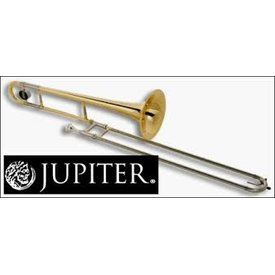 "Jupiter Jupiter Trombone Lacquered Brass, .500"" Bore, 8"" Bell, Nickel Silver Outer Slide, chromed inner slides, includes JBM-12C mouthpiece and ABS molded case (KC-42A)"