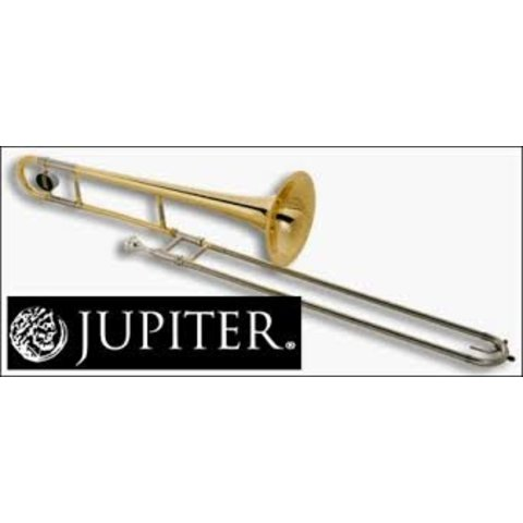 """Jupiter Trombone Lacquered Brass, .500"""" Bore, 8"""" Bell, Nickel Silver Outer Slide, chromed inner slides, includes JBM-12C mouthpiece and ABS molded case (KC-42A)"""