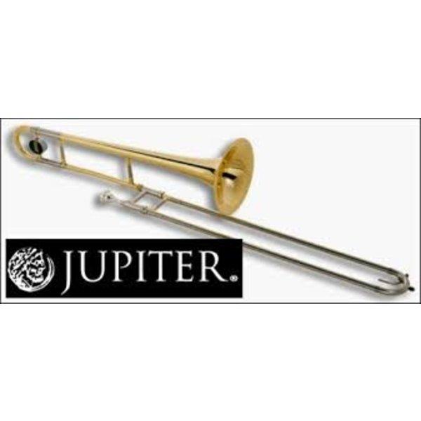 "Jupiter Jupiter Trombone Lacquered Brass, .500"" Bore, 8"" Bell, Nickel Silver Outer Slide, chromed inner slides, includes JBM-12C mouthpiece and ABS molded case (KC-42A)"