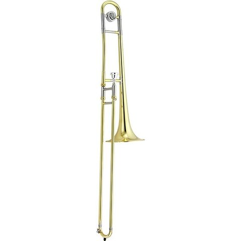 """Jupiter Trombone Lacquered Brass, .500"""" Bore, 8"""" Bell, Brass Outer Slide, chromed inner slides, includes JBM-12C mouthpiece and ABS molded case (KC-42A)"""