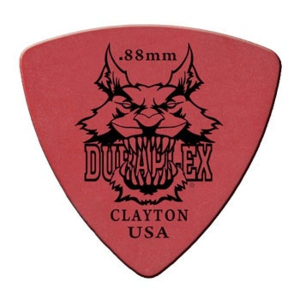 Clayton Clayton DURAPLEX PICK ROUNDED TRIANGLE .88MM /12