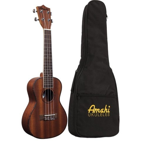 Amahi Classic Series Tenor Ukulele, Mahogany Top, Back & Sides, includes padded gig bag