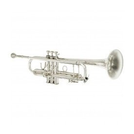Eastman Band Eastman Professional Trumpet with a .459 bore and silver plate.