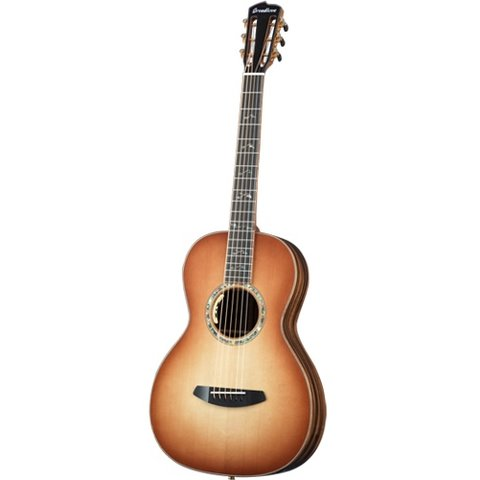 Breedlove Masterclass Parlor Tea Burst E Adirondack-Striped Ebony