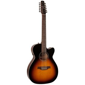 Seagull Seagull 042296 S12 Spruce Sunburst Concert Hall QIT 12 String Acoustic Electric Guitar