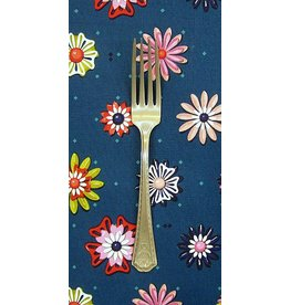 PD's Melody Miller Collection Picnic Enamel Flowers in Teal, Dinner Napkin