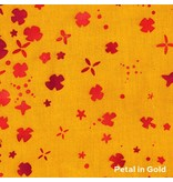 Alison Glass Handcrafted 2, Petal in Gold, Fabric Half-Yards