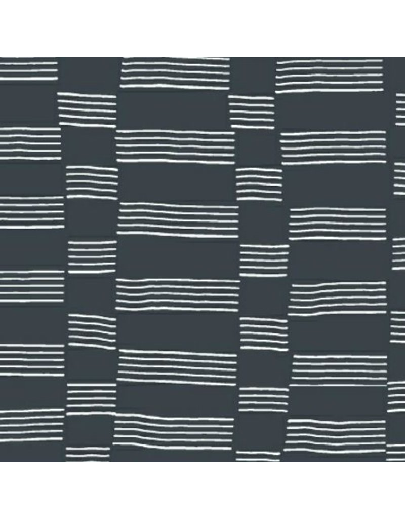 Lotta Jansdotter Lucky, Etapp in Midnight Navy, Fabric Half-Yards