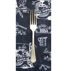 PD's Robert Kaufman Collection In the Kitchen Chalkboard in Charcoal, Dinner Napkin
