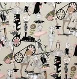 Alexander Henry Fabrics The Ghastlies, Ghastlie End in Taupe, Fabric Half-Yards