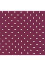 Moda Linen Mochi Dot in Boysenberry, Fabric Half-Yards