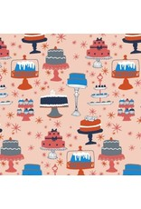 Julia Rothman Bake, Cakes in Multi, Fabric Half-Yards