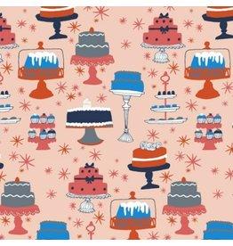 Julia Rothman Bake, Cakes in Multi, Fabric Half-Yards