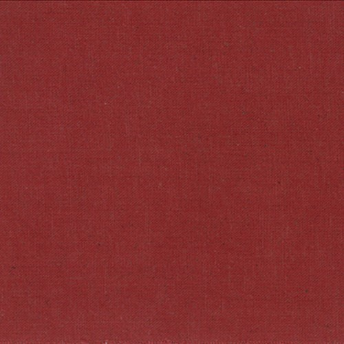 Moda Linen Mochi Solid in Country Red, Fabric Half-Yards