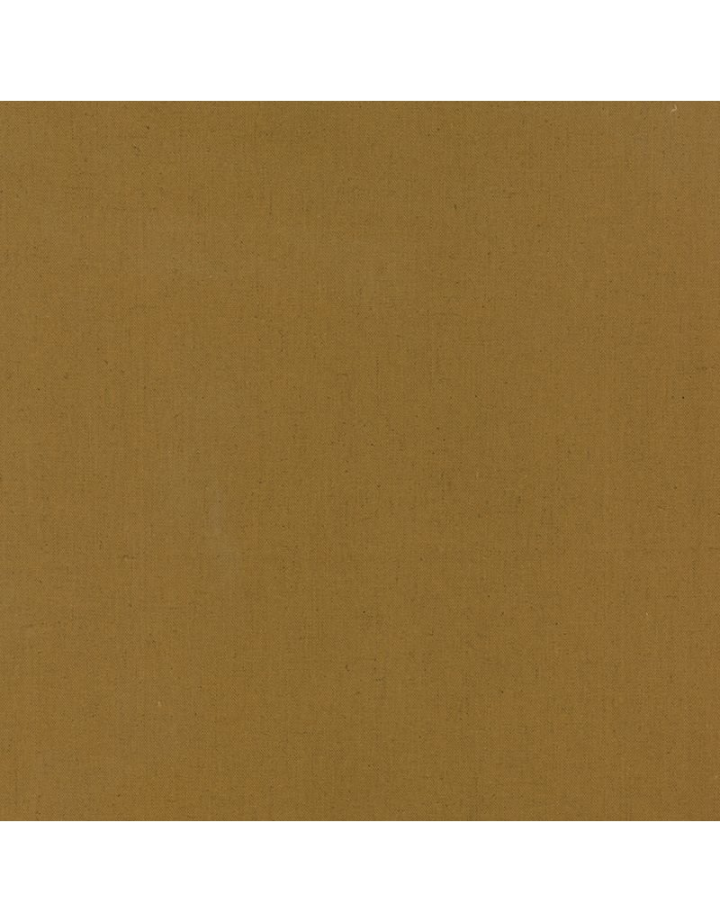 Moda Linen Mochi Solid in Ochre, Fabric Half-Yards
