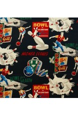 Alexander Henry Fabrics Nicole's Prints, Bowl for Health in Black, Fabric Half-Yards