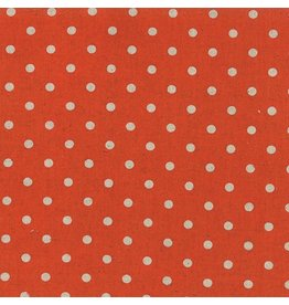 Moda Linen Mochi Dot in Tangerine, Fabric Half-Yards