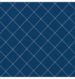 Carolyn Friedlander Doe, Crisscross in Blue, Fabric Half-Yards