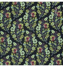 Tula Pink Moon Shine, Sprout in Midnight, Fabric Half-Yards