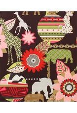 Alexander Henry Fabrics Africa, Mbali in Coffee, Fabric Half-Yards