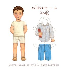 Oliver+S's Sketchbook Shirt + Shorts Pattern