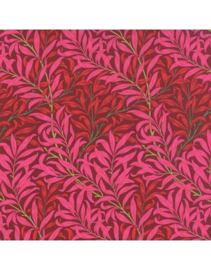 Barbara Brackman The Morris Jewels, Willow Boughs in Ruby, Fabric Half-Yards