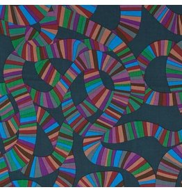 Brandon Mably Kaffe Collective, Roller Coaster in Charcoal, Fabric Half-Yards