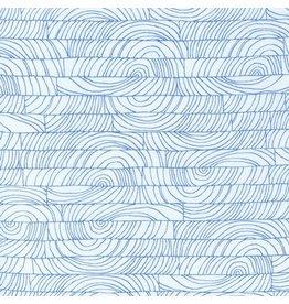 Carolyn Friedlander Doe, Breeze in Blue, Fabric Half-Yards
