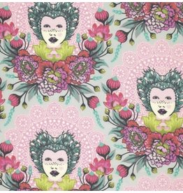 Tula Pink Elizabeth, 16th Century Selfie in Tart, Fabric Half-Yards