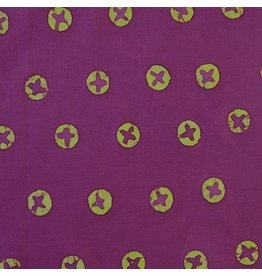Alison Glass Handcrafted, Penny in Beet, Fabric Half-Yards