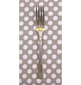 PD's Michael Miller Collection Ta Dots in Truffle, Dinner Napkin