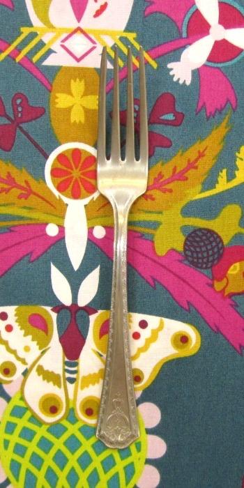 PD's Alison Glass Collection Ex Libris Bookplate in Indigo, Dinner Napkin