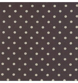 Moda Linen Mochi Dot in Charcoal, Fabric Half-Yards