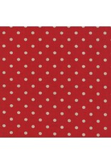 Moda Linen Mochi Dot in Red, Fabric Half-Yards
