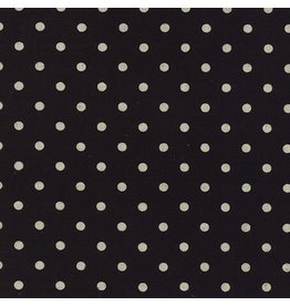 Moda Linen Mochi Dot in Black, Fabric Half-Yards