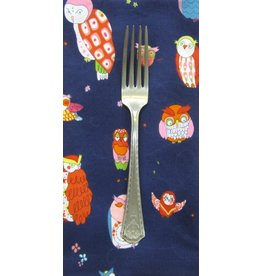 PD's Alexander Henry Collection Rita Floral Spotted Owl in Navy, Dinner Napkin
