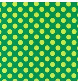 Michael Miller Ta Dots, Green, Fabric Half-Yards