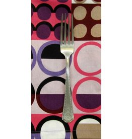 PD's Alexander Henry Collection Africa Johari in Taupe/Pink, Dinner Napkin