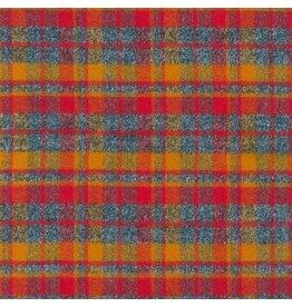 Robert Kaufman Yarn Dyed Cotton Flannel, Mammoth Flannel in Crimson, Fabric Half-Yards