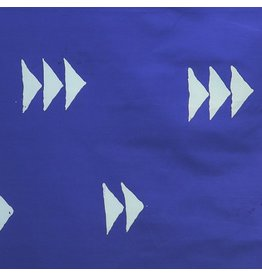 Alison Glass Handcrafted Indigos, Flying Geese in Dark Cobalt, Fabric Half-Yards