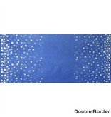 Alison Glass Handcrafted Indigos, Petals Double-Border in Cobalt, Fabric Half-Yards