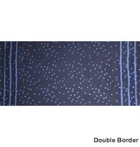 Alison Glass Handcrafted Indigos, Speckle Double-Border in Navy, Fabric Half-Yards