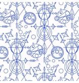 Alison Glass Abacus, Mercury in Cobalt, Fabric Half-Yards