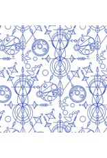 PD's Alison Glass Collection Abacus, Mercury in Cobalt, Dinner Napkin