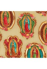 Robert Kaufman Inner Faith, Lady of Guadalupe in Natural, Fabric Half-Yards