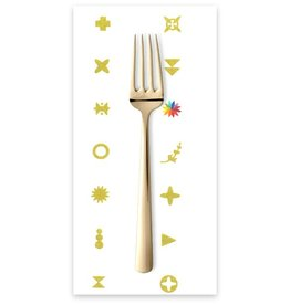 PD's Alison Glass Collection Abacus, Artifact in Gold Metallic, Dinner Napkin