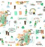 Dear Stella Luck of the Irish, Map in Multi, Fabric Half-Yards