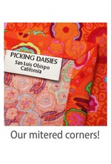 PD's Moda Collection Purebred, Blanket of Flowers in Derby Red, Dinner Napkin