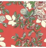 Erin Michael Purebred, Blanket of Flowers in Derby Red, Fabric Half-Yards