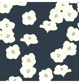 Birch Fabrics Double Gauze, Organic, Poppies in Dusk, Fabric Half-Yards